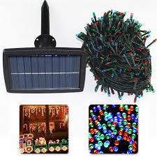 solar panel christmas lights solar powered led string light 200 500leds 21 51m lighting garden