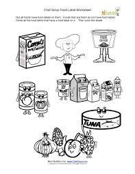 printable fun food label activity u0026 coloring sheet