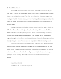 ideas collection sample of recommendation letter for a middle
