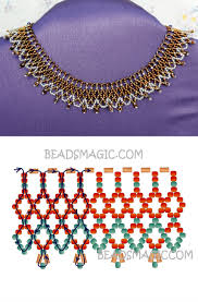 free pattern for necklace bronze lace seed beads 11 0 short bugles
