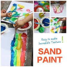 Make Textured Paint - myo sand paint nature art emma owl