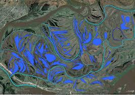 Parana River Map Canals And Ponds Along The Parana Rio