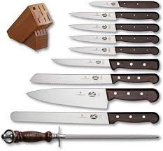 ebay kitchen knives victorinox knives 11pc kitchen knife set rosewood handles w wood