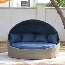 creative living moorea all weather wicker cabana day bed with