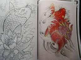 koi carp fish tattoo flash outline new chinese u0026japanese style