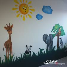 nursery decor nursery ideas kids wall drawing baby animals