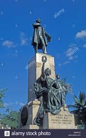 statue of juan pablo duarte dominican republic santo domingo stock