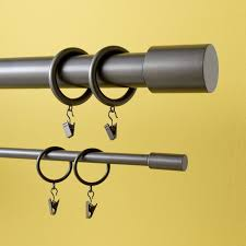 Curtain Ring Hooks Metal Curtain Rings Set Of 7 West Elm