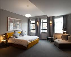 Grey Flooring Bedroom Cheerful Sophistication 25 Elegant Gray And Yellow Bedrooms