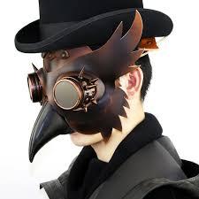 plague doctor masquerade mask aliexpress buy gold leather rivet plague doctor bird