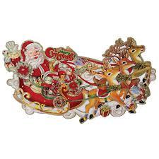 santas sleigh decoration dotcomgiftshop