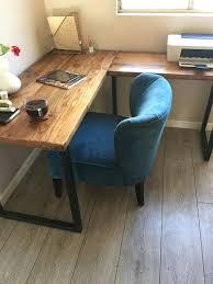 industrial desk l reclaimed wood corner desk l shaped desk reclaimed wood desk