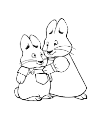 max and ruby coloring page aecost net aecost net