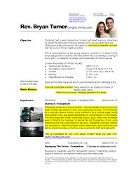A R Resume Pretentious Inspiration Ministry Resume Templates 1 Lead Pastor