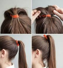 hair holders tips when styling the hair using elastic pony holders hair