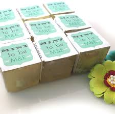 mint to be bridal shower bridal shower favors soaps custom mint to be