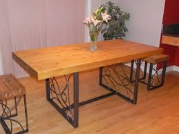 outstanding butcher block dining room tables with rectangle brown