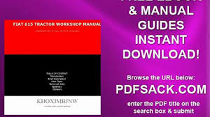 fiat 615 tractor workshop manual video dailymotion