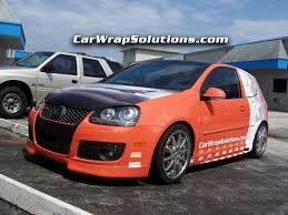 new orange and white vehicle wrap for my 06 volkswagen gti vw