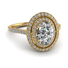 yellow gold oval engagement rings yellow gold oval white engagement wedding ring in pave