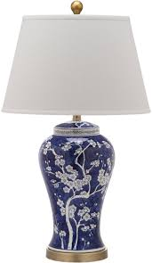 28 Light Blue And White Lit4170c Set2 Table Lamps Lighting By Safavieh