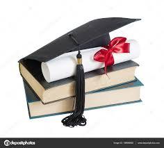graduation books graduate hat books and scroll stock photo epitavi 149680922