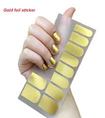 metallic nail foil wraps 16 tips sheet nail stickers adhesive nail foils cover nail