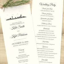 sided wedding programs city skyline sided wedding program pixie