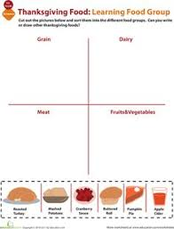 printable activities and worksheets about nutrition and the five