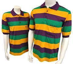 perlis mardi gras polo new mardi gras sleeve polo style stripe knit shirt sz