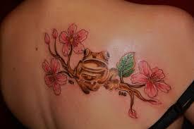 red plumeria tattoo