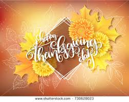 vector thanksgiving greeting card lettering stock vector