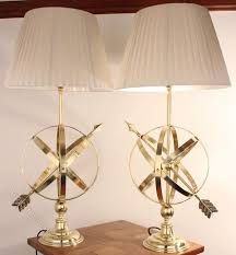 antiques atlas pair edwardian brass armillary sphere table lamps