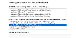 Us Cabinet Agencies White House Poll Lets You Vote To Eliminate The White House