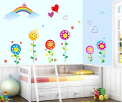 wall stickers wall decals nursery price at flipkart snapdeal decals arts rainbow sunflower nursery school layout wall stickers available at craftsvilla for rs 338
