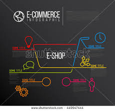 shop report template vector ecommerce eshop infographic report template stock vector