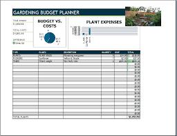 gardening budget planner template word u0026 excel templates