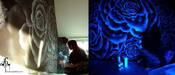 gorgeous glow in the dark murals only visible under uv light