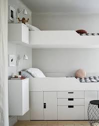 Ikea White Bunk Bed Bunk Beds Floating Nightstands Under Bed Storage Bedroom