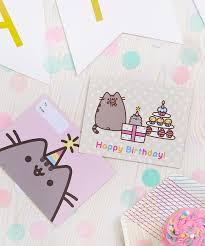 pusheen birthday card pack of 5 u2013 hey chickadee