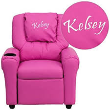Personalized Kid Chair Amazon Com Flash Furniture Personalized Pink Vinyl Kids