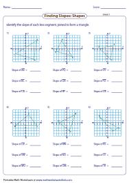 finding slope from a graph worksheet slope worksheets