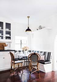 Black Banquette Black And White Striped Banquette U2013 Interior Preference