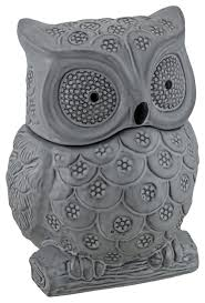 owl kitchen canisters gray ceramic owl shaped decorative cookie jar midcentury