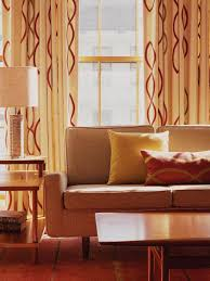decorating ideas mid century modern curtains with retro living