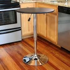 amerihome chrome adjustable pub bar table atable the home depot