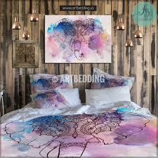 elephant bedding bohemian duvet cover set elephant ganesh elephant bedding bohemian duvet cover set elephant ganesh watercolor bedding set boho grunge