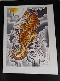 tiger god print 11x14 5 pt44 folsom city ink tattoos