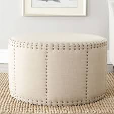 the review of classic round ottoman coffee table with brown storage