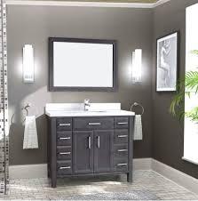 42 Bathroom Vanity by Art Choice 42 Bathroom Vanity French Gray Finish Bath